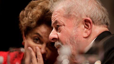 Los expresidentes brasileños Dilma Rousseff y Lula da Silva, en una imagen de archivo