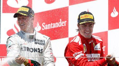 Schumacher y Alonso, los dos que más han ganado en la Fórmula 1.