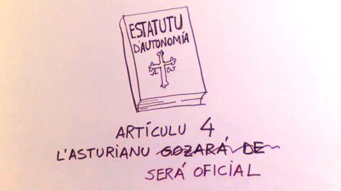 Oficialidad del asturiano