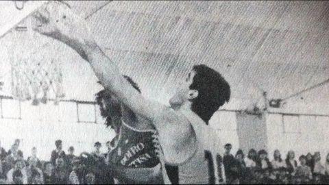 En el año 1982, último partido de la temporada del Obra en el que logro el ascenso a Primera Division.