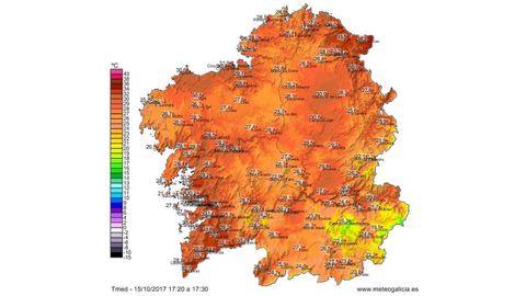Temperaturas a las 17.30 horas