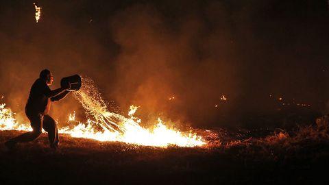 El fuego en Melón