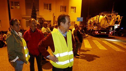 El alcalde de Vigo Abel Caballero, en la zona de Coruxo.