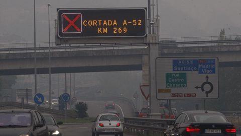 Humo en Ourense