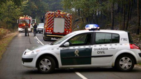Corte de la carretera entre Monforte y Pobra do Brollón a la altura de Chavaga