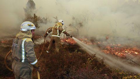 Incendio forestal en Monforte