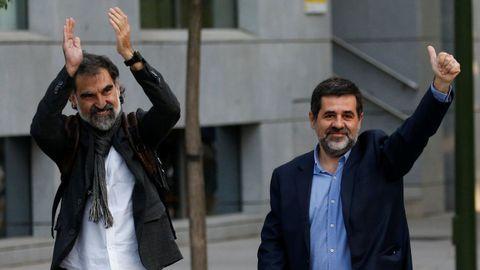 Prisión provisional sin fianza para Jordi Cuixart y Jordi Sánchez