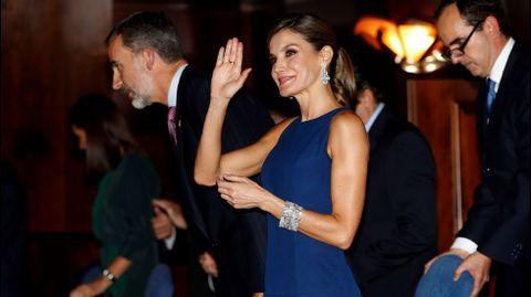 Los reyes Felipe y Letizia a su llegada al tradicional concierto de los Premios Princesa de Asturias, en una foto de archivo.