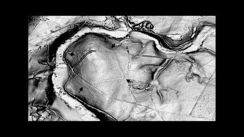 Reconstrucción en 3D, con apoyo del LIDAR, del campamento de Pol, aprovechando un meandro del río Azúmara
