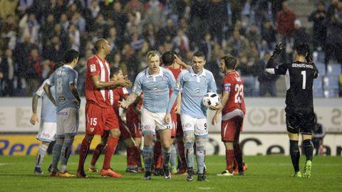 Celta-Sevilla (2-2, Copa del Rey) el 11 de febero del 2016. Doblete de Iago