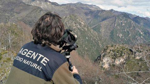 Un guarda del Medio Natural del Principado de Asturias