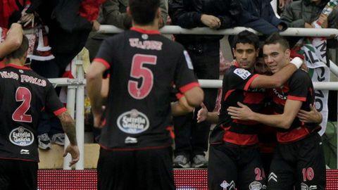 Rayo-Celta (3-2) el 10 de noviembre del 2012