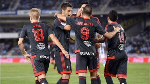 Real Sociedad-Celta (2-3) el 31 de octubre del 2015