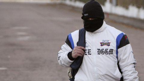 Miguel Ricart, el único condenado por el triple crimen de Alcàsser, a su salida de la prisión de Herrera de La Mancha, en Ciudad Real