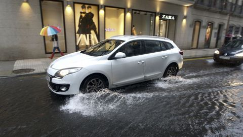 El temporal en Vilagarcía