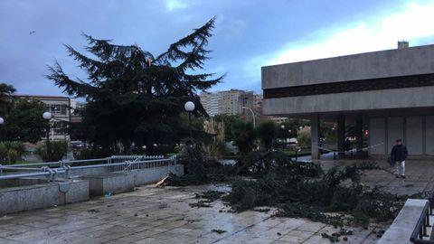 En Cuatro Caminos también hubo destrozos