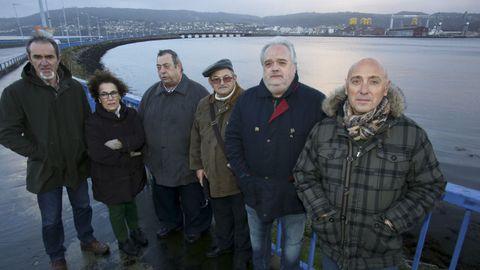 Miguel Ezquerro, Conchi Prego, Antonio Gómez, Fernando Rodríguez, Rogelio Ramos y Juan Devesa