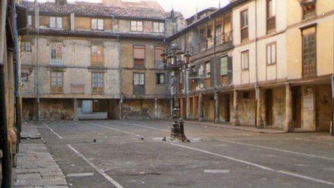 La plaza del Fontán antes de su restauración