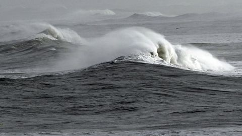Temporal en el mar en Foz