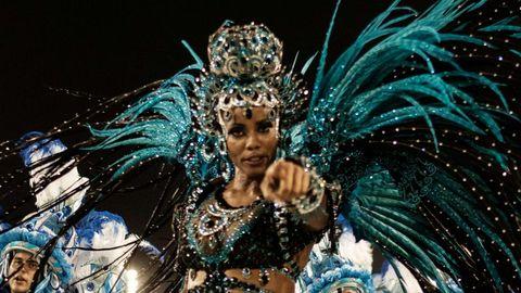 Una imagen del gran desfile de carnaval de Río de Janeiro