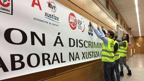 Huelga en los juzgados de Ferrol