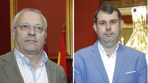 Alcaldes de Oroso, Manuel Mirás (PSOE), y de Ordes, José Luis Martíñez (PP)