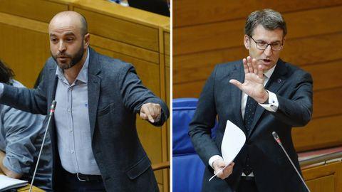 Tensa discusión entre Feijoo y Villares a cuenta del conflicto de la justicia