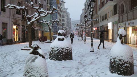 Temporal de nieve en Bilbao