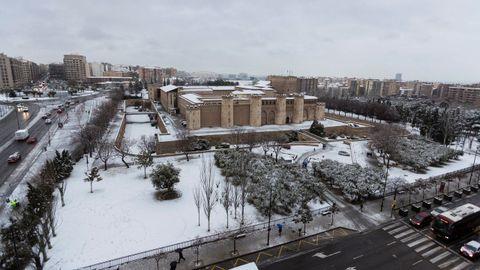 Temporal de nieve en Zaragoza
