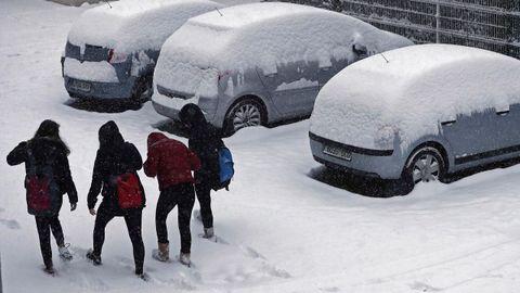 Temporal de nieve en Pamplona