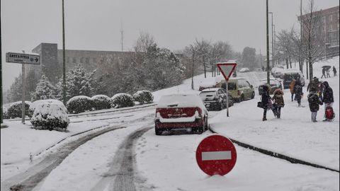 Tempral de nieve en Getxo