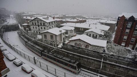 Tempral de nieve en Bilbao