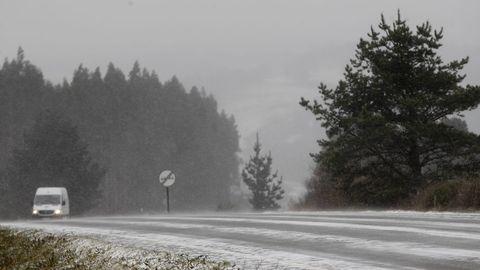 Nieve en Monte Caxado