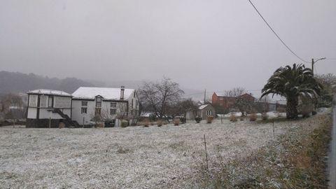 Nieve en Vilaronte, en Foz