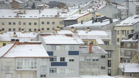 Nieve en Lalín