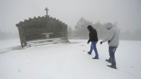 Nieve en Rodeiro Monte Faro