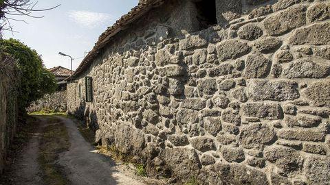 Construcciones tradicionales en la aldea de Pedras