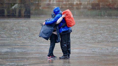 Temporal de lluvia y viento