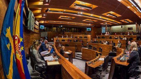 El pleno de la Junta General del Principado de Asturias