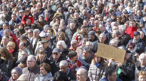 Dende o 22 de febreiro véñense producindo en toda España manifestacións reclamando pensións dignas, como esta do sábado en Ferrol