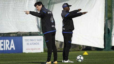 Seedorf junto a su ayudante, Angelo Castelazzi