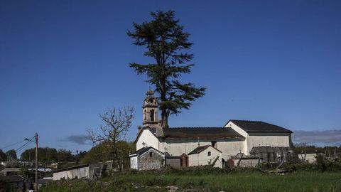 Junto a la iglesia de San Martiñio se alzan dos grandes cedros