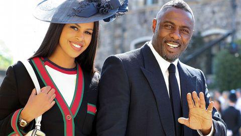 El actor británico Idris Elba y su pareja Sabrina Dhowre