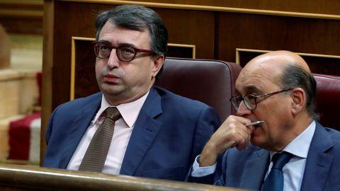 Aitor Esteban, portavoz del PNV en el Congreso, durante un debate en la pasada legislatura