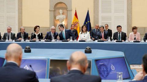 Un momento de la reunión anual de los patronos de la Fundación Princesa de Asturias