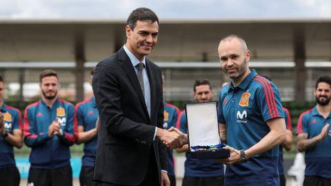 Iniesta y Pedro Sánchez