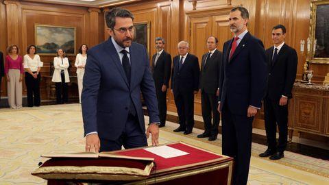 Máxim Huerta promete su cargo como ministro de Cultura y Deportes