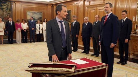 Pedro Duque promete su cargo como ministro de Ciencia, Innovación y Universidades