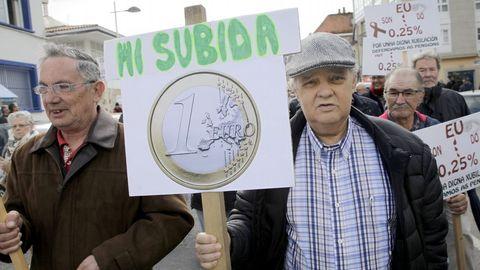 Manifestación de jubilados a favor de unas pensiones dignas