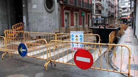 Obras en el centro de Gijón